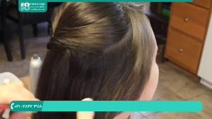 آموزش بافت مو پشت سر برای کودکان