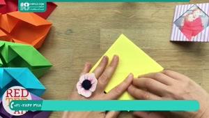 آموزش اوریگامی به شکل آلبوم عکس با مقوا رنگی