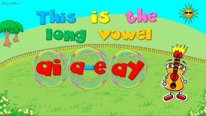 long vowel ai - ay - a e sound