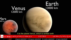 مقایسه ی سیارات