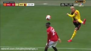 کلیپ خلاصه بازی منچستریونایتد 3 - واتفورد 0 در لیگ انگلیس