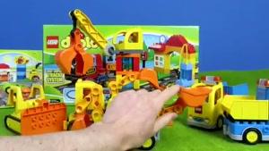 برنامه کودک ماشین بازی  (ریل قطار و پمپ بنزین)