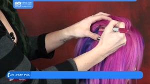آموزش اکستنشن موی پوششی و  اکستنشن موی چسبی