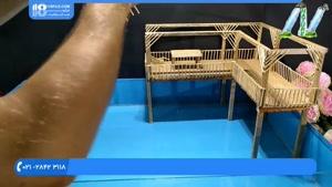 آموزش ساخت آبنما طرح کلبه با چوب بستنی