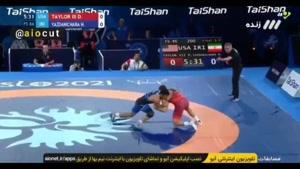 فیلم پیروزی حسن یزدانی مقابل دیوید تیلور