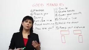 Good manners (T3A unit 1)