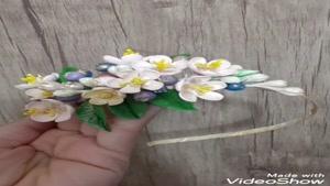 آموزش تاج و گل خمیری