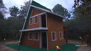 ساختن یه خونه جنگلی با معماری فوق العاده