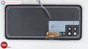 کالبدشکافی و آموزش تعویض باتری Samsung Galaxy A12 - فونی شاپ