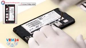 کالبدشکافی و آموزش تعویض باتری Huawei Ascend G630 - فونی شاپ