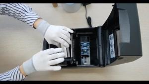 نحوه نصب لیبل و ریبون پرینتر  Bixolon TX400
