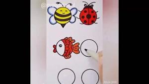 آموزش نقاشی به کودک /  شکل دایره