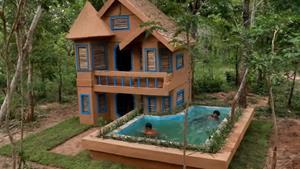 مراحل ساختن یه خونه جنگلی شیک و قشنگ