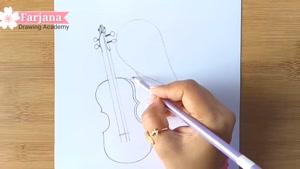 آموزش نقاشی دختر ویولون به دست