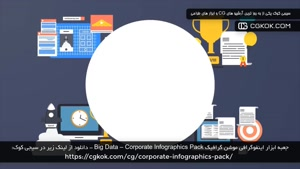 جعبه ابزار اینفوگرافی موشن گرافیک Big Data – Corporate Infog