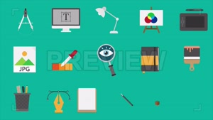دانلود مجموعه آیکون ابزار طراحی موشن گرافیک Design Icons Pac