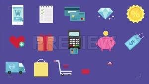 مجموعه آیکون فروشگاه ساخت موشن گرافیک 16 eCommerce Icons Pac