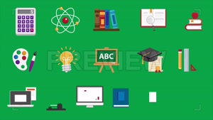 دانلود مجموعه آیکون با موضوع تحصیل برای موشن گرافیک Educatio