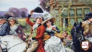 تابلو فرش فرانسوی طرح بدرقه عروس - دیجی دکوری