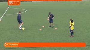آموزش فوتبال به کودکان-آموزش حرکت با توپ و پاس کاری