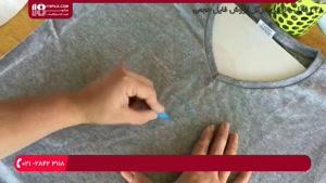 آموزش نقاشی روی پارچه - نوشتن کلمه روی پارچه