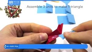 اوریگامی سه بعدی - آموزش درست کردن گوی با گل