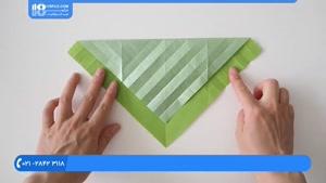 اوریگامی سه بعدی - آموزش درست کردن اوریگامی طاووس