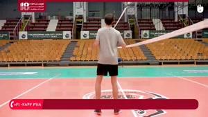 آموزش والیبال به کودکان - تمرین دریافت در بازی والیبال
