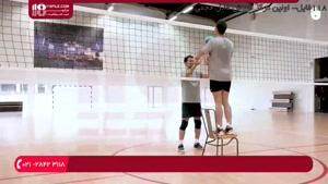 آموزش والیبال به کودکان - تمرین پرش برای دفاع کردن