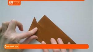 آموزش اوریگامی سه بعدی - درست کردن اوریگامی ستاره