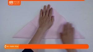 آموزش اوریگامی سه بعدی - درست کردن اوریگامی خوک