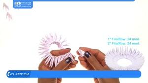 اوریگامی سه بعدی - آموزش اوریگامی سه بعدی قو