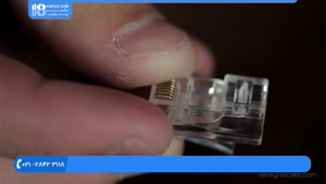 4. نصب دوربین مدار بسته -چگونگی ساخت اتصال شبکه با کانکتور