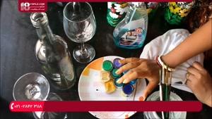 آموزش نقاشی روی شیشه - آموزش نقاشی روی بطری شیشه ای
