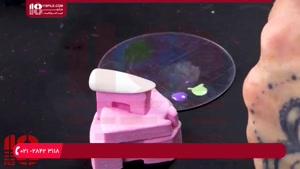 آموزش طراحی ناخن -  طراحی پلنگی