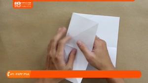 آموزش اوریگامی مقدماتی - اوریگامی جت جنگی اف 16
