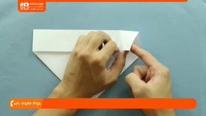آموزش اوریگامی مقدماتی - اوریگامی هواپیما اف 22