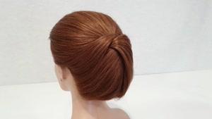 آموزش شنیون مو برای موی کوتاه