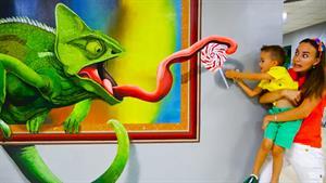 ماجراهای ولاد و نیکی این داستان نقاشی های سه بعدی