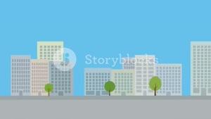 دانلود فوتیج موشن گرافیک شهر Modern City Background