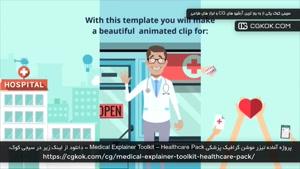 پروژه آماده تیزر موشن گرافیک پزشکی Medical Explainer Toolkit
