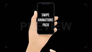 فوتیج حرکت دست موشن گرافیک Swipe Animation Pack