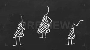 فوتیج آماده افترافکت انیمیشن استیکمن Hand-drawn Stickman Pac