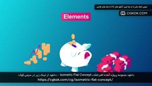 دانلود مجموعه پروژه آماده افترافکت Isometric Flat Concept