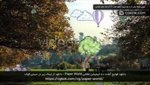 دانلود فوتیج آماده 60 انیمیشن نقاشی Paper World