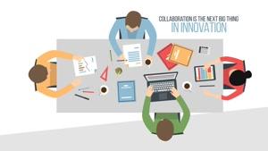 پروژه آماده موشن گرافیک همکاری Flat Corporate People