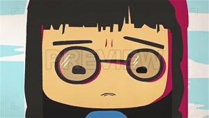 فوتیج انیمیشن دختر گریان Cartoon Girl Crying