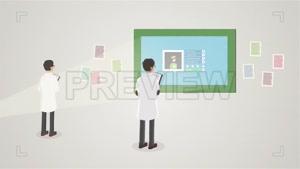 فوتیج انیمیشن دانشمندان Scientists Cartoon