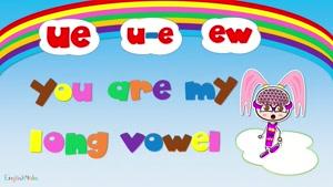 long vowel ue - ew - u...e sound