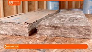 آموزش کناف سقف - نصب عایق کناف
